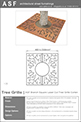 ASF Branch Square Laser Cut Tree Grille Corten