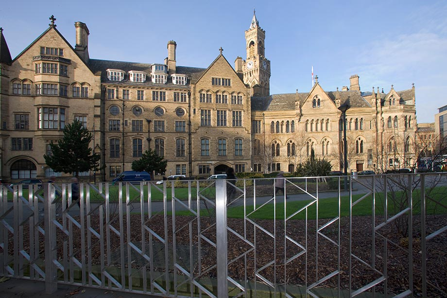 Bradford Town Hall, Stainless Steel Post and Panel Railings